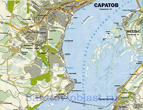 Карта улиц города саратов подробная